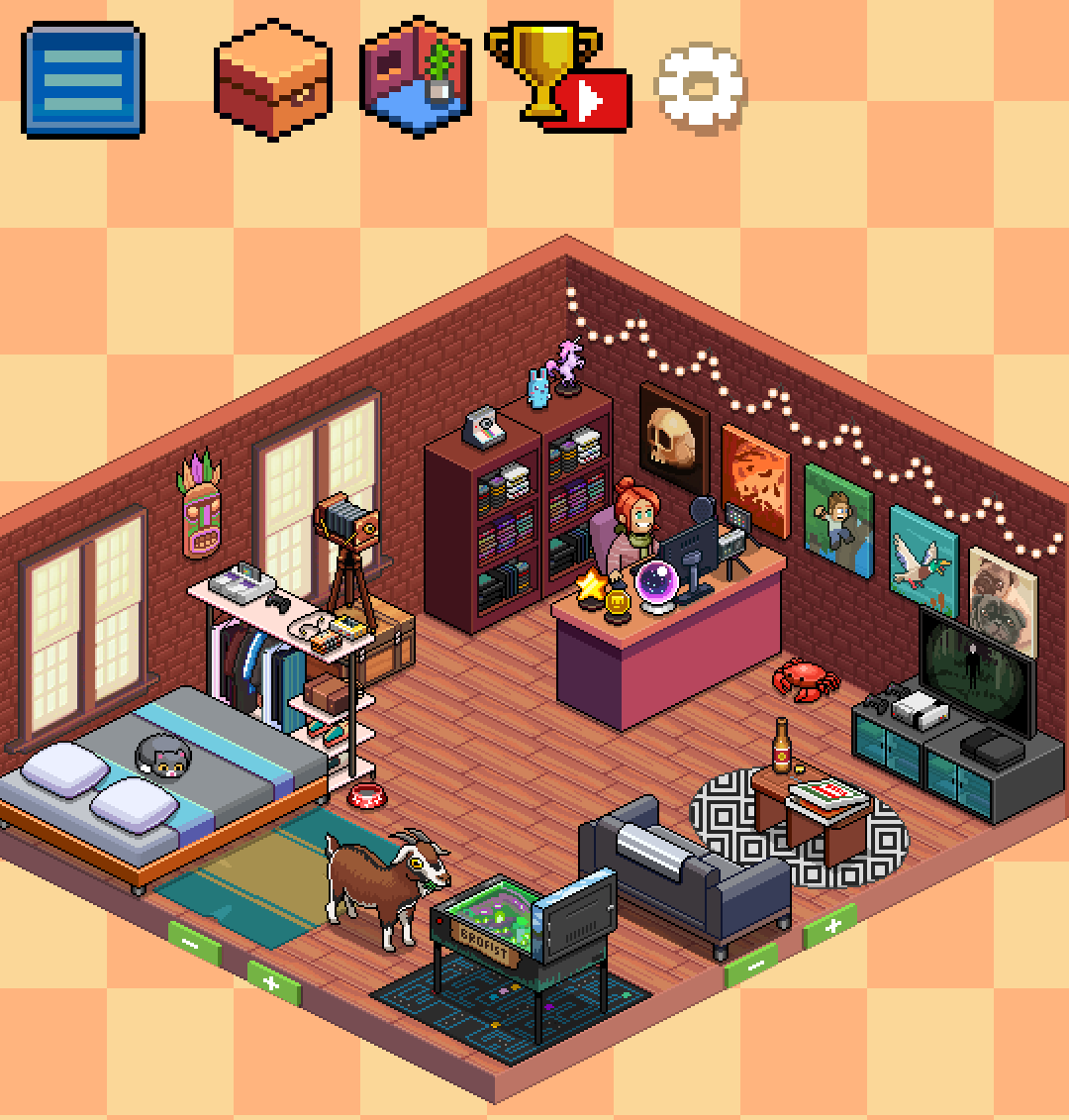 Tuber Simulator Room Ideas One more detail I like in this game is the Sponsor Eagle that flies by the  screen every minute or so, and tapping it will get you a present which can  be ...